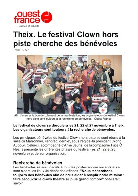 festival-clown-hors-piste-Article OF 2 nov Theix