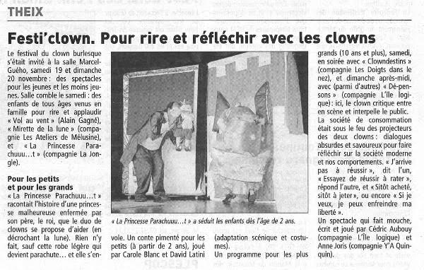 FestiClown 2011 - couverture presse - (2) TG 22-11-11 Réduit