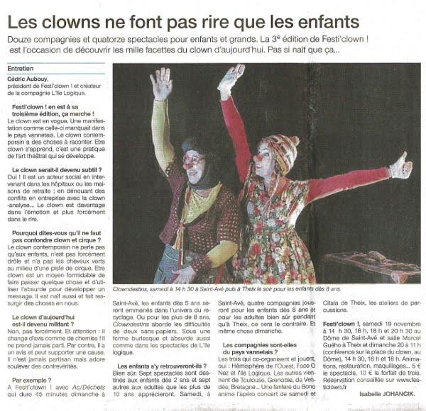 FestiClown 2011 - couverture presse - (4) OF 15-11-11 Réduit